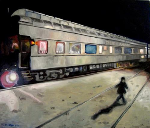 Miles takes the train