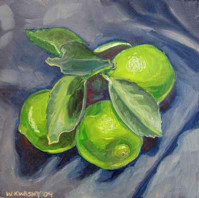 """Limes"" oil on canvas 8""x8"""